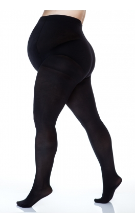 Plus size maternity tights 50 den 3D (microfibre)