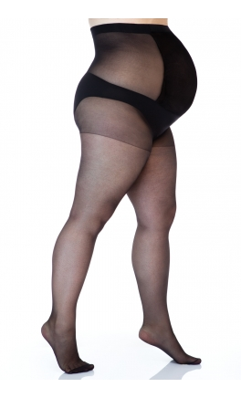 Plus size maternity tights 17 den (lycra)
