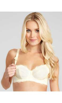 Vanilla Cream Maternity Nursing Bra / 80C