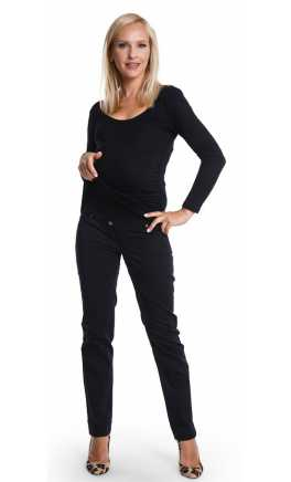 Maternity trousers SLIM BLACK