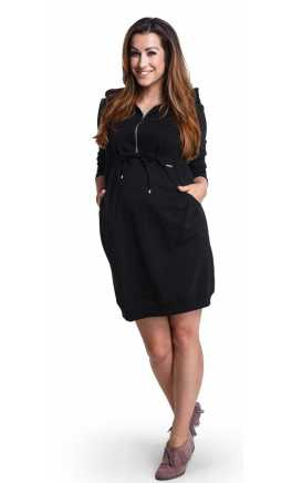 Warm dress for pregnant and breastfeeding CHIILLOUT Black