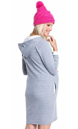 Stylish dress for pregnant - breastfeeding MAMBA Melange