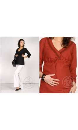 Maternity and after linen blouse CARAIBIC